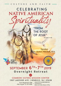 Native American Spiritual Retreat @ Comboni Sisters Mission Center
